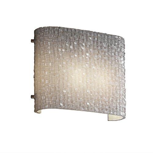 Justice Design Group Lighting POR-8791-40-WFAL-MBLK-LED1-700 Limoges LED Sabre 1-Light Wall Sconce Matte Black Square Flared Shade Waterfall