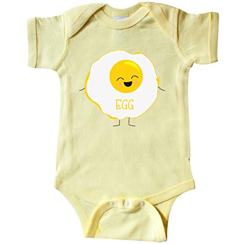 (inktastic - Fried Egg Costume Infant Creeper 6 Months Banana Yellow)