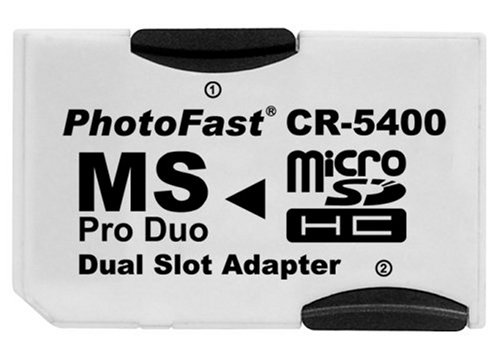 PhotoFast CR-5400 MicroSD to MS Pro Duo Adapter Dual Slot