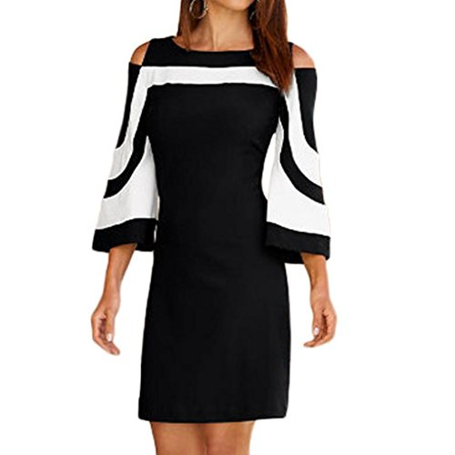 Women Summer Dress 2018,Todaies Women Stripe Dress Party Dre
