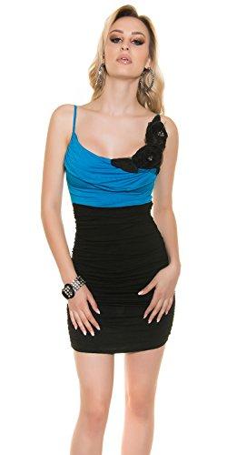 Koucla Turquoise / Noir Robe Des Femmes