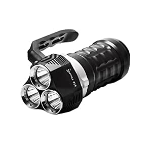 ThorFire Scuba Diving Flashlight 2000 Lumen Ultra Bright Submarine Light with 3 XPL LED Waterproof Searchlight Underwater 230ft Torch, Rechargeable 18650 Battery Not Included