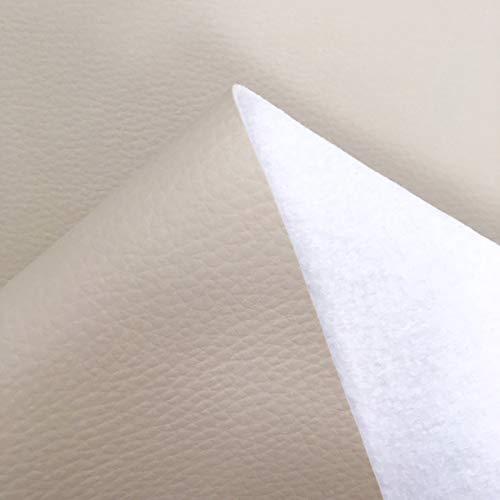 Tela por metros de polipiel para tapizar - Tapicería - Ancho 140 cm - Largo a elección de 50 en 50 cm | Crudo