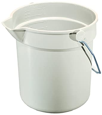 "Impact 5510 Gray Deluxe Heavy-Duty Bucket, 10 qt Capacity, 10-1/4"" Height x 10-5/8"" Diameter"
