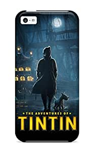 Excellent Iphone 5c Case Tpu Cover Back Skin Protector Tintin Poster Steven Spielberg Peter Jackson People Movie