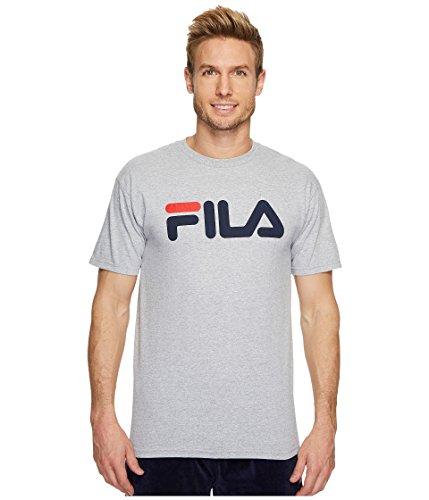 - Fila Men's Logo Tee, Grey Heather, Small