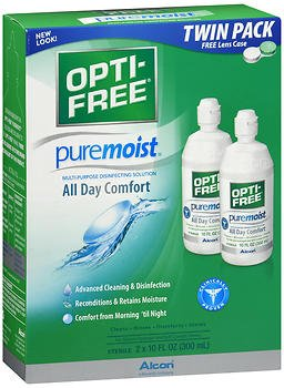 Opti-Free Puremoist Multi-Purpose Disinfecting Solution - 20 oz, Pack of 6
