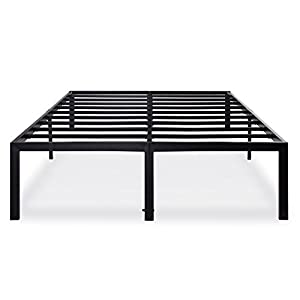 Olee Sleep 18 Inch Tall Heavy Duty Steel Slat Bed Frame T-3000