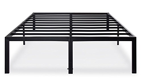 Olee Sleep 18 Inch Tall T-3000 Heavy Duty Steel Slat/Non-slip Support Bed Frame,OLR18BF04Q (Queen Box Spring Dimensions)