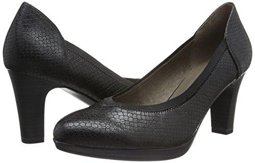 Femme 22403 EU Noir Noir Snake 37 Tamaris 017 Black Escarpins wafZqBwE