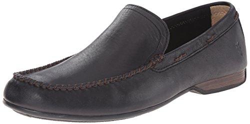 80259 Slip Vintage Men's FRYE Venetian Leather Soft Black Lewis On Fv4nfx