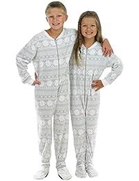 Kid's Fleece Onesie PJS Footed Pajama