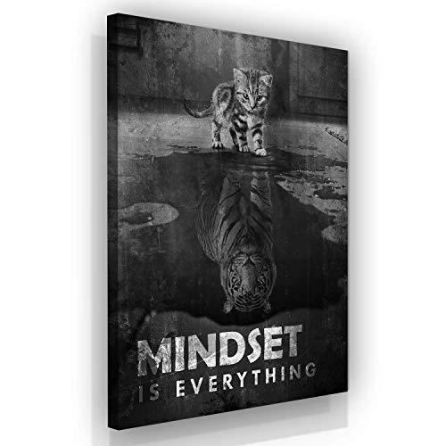 SuccessHuntersPrints Mindset is Everthing Motivational Wall Art Canvas Print, Office Decor, Inspiring Framed Prints, Inspirational Entrepreneur Quotes for Wall Art Decoration (36