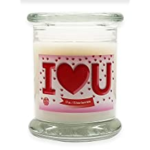 I Love U! - Valentine's Day Scented Candle Soy Wax Candle Aromatherapy Soy Candles Burn Cleaner ~ 100% Made in USA. Gift For Special Occasions - S&M Candle Factory (Love Spell)