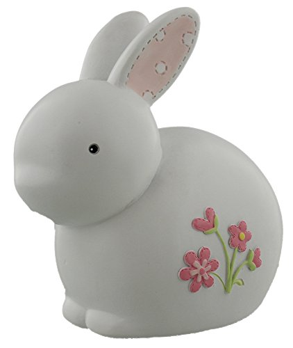 Rabbit Toy Pink - Cute White and Pink Bunny Rabbit Money Bank By Haysom Interiors