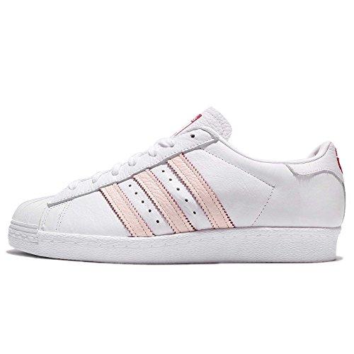 adidas Men's Superstar 80S C, Running White/Running White/Scarlet Running White / Running White / Scarlet