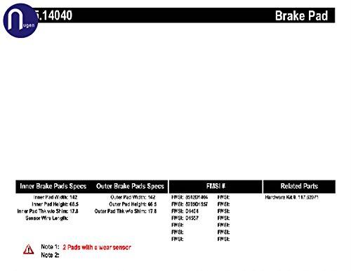 centric 105.14040 Ceramic Brake Pads