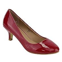 BELLA MARIE ID71 Women's Slip On Low Heel Dress Pump
