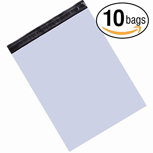 23.5x30 Jumbo Poly Mailers Envelopes Bags With Self-sealing Strip White Shipping Bags (10 Pack) by GOODARTSTORY