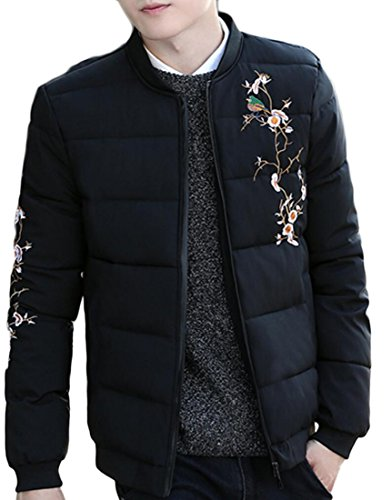 Coat Black Jacket Winter Down Quilted Casual Mens Warm Outdoors Generic TO0qz8Ywn