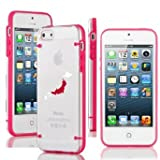 Apple iPhone 6 6s Thin Hybrid Transparent Clear Hard TPU Bumper Case Cover Japan Japanese Flag (Hot Pink)