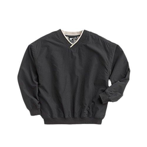 Nylon Pullover - White Bear Men's Microfiber Windshirt, X-Large, Black