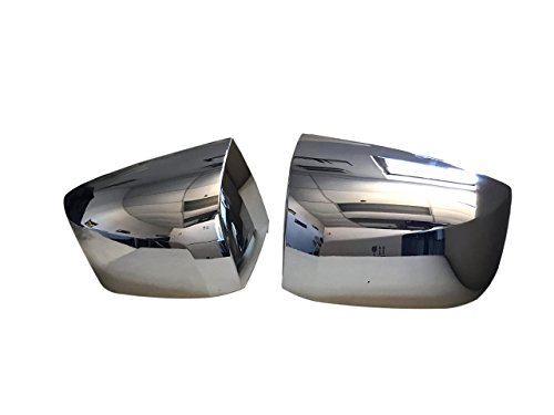 VOLVO VNL HOOD MIRROR COVERS SET CHROME PAIR LEFT & RIGHT SIDES PASSENGER AND DRIVER SIDE. CHROME METALLIC FINISH