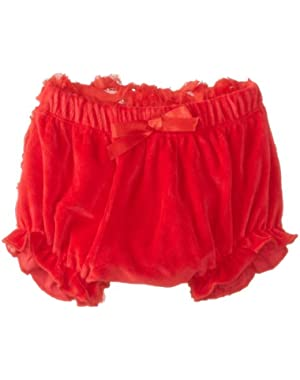 Baby Girls' Red Rosette Bloomer