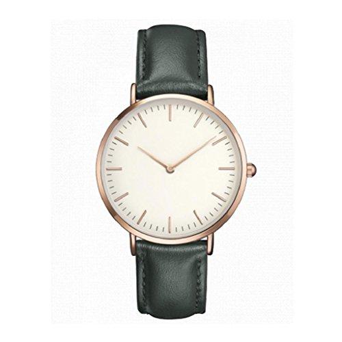 Retro Quartz Watch,Hosamtel Women Men Simple Casual Quartz Analog Wrist Watches (Green)