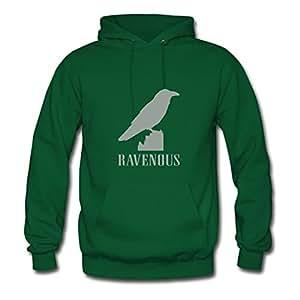 Women Ravenous Image Green Customized Deepheather X-large Hoody