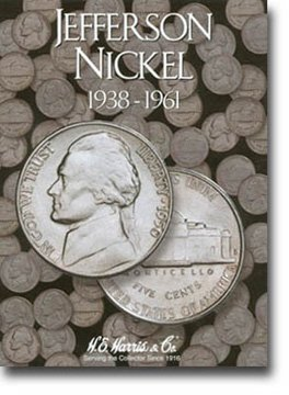 Harris Coin Folder – Jefferson Nickel #1 Folder 1938-1961 – Ref#8HRS2679 by H.E. Harris