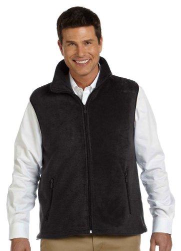 Harriton Mens Full Zip Fleece (Harriton Men's Fleece Vest - Large - Black)