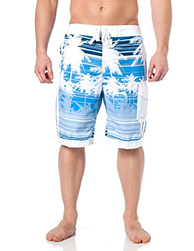 Alki'i Men's Boardshorts - Isla Palms, L, Blue
