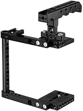 CAMVATE Canon 600D 70D 80D用クイックリリースシューマウントアダプター付きカメラケージキット