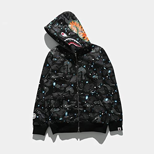BBYIKAI Sweatshirts Männer Leuchtende Camouflage Plus Baumwolle Casual Sweatshirt Mit Kapuze