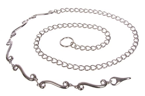 Ladies Fashion Metal Chain Belt Size: O/S - 39 End To End (Ladies Metal Chain Belt)