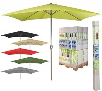 parasol rectangulaire inclinable vert. Black Bedroom Furniture Sets. Home Design Ideas