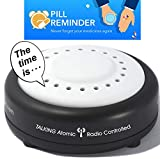 Atomic Talking Clock – 8 Wake up or Pill Reminder Alarm Clock (an Option for Talking Watch) perfect for vision impaired, elderly or blind by 5 Senses (1623)