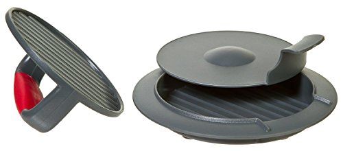3 Pieces, Burger Press with Non-Skid Base & Comfort-Grip Pus