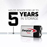 Energizer Max 9V Batteries, Premium Alkaline 9 Volt Batteries