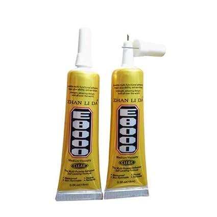 35097a63052 Amazon.com : 15ML E8000 Clear Glue Adhesive Sealant Waterproof For ...
