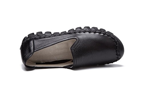 Zapatos Trabajo uk Rasa Genuina Primavera 35 Boca Nueva Mujeres Moda Otoño Ocio Eur39uk665 3 Bombas Bottom Pisos Antideslizantes Soft Señoras Únicos Redonda Nvxie Piel Eur Cabeza qYFR7