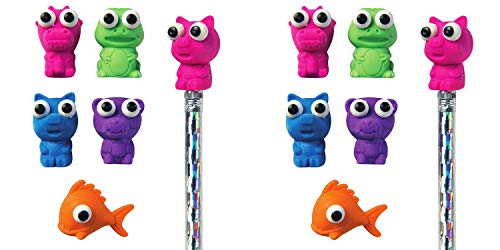 Raymond Geddes Here's Looking at You Eraser Pencil Toppers, Set of 50 (69005) (Тwo Рack, Assorted) by Raymond Geddes (Image #1)