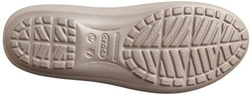 Crocs Mammoth Leopard Line - Bailarinas Mujer Grigio (Platinum/Platinum)