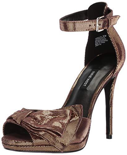 Nine West Women's BELLEN Metallic Heeled Sandal, Gold, 6 M US (Nine West Gold Shoes)