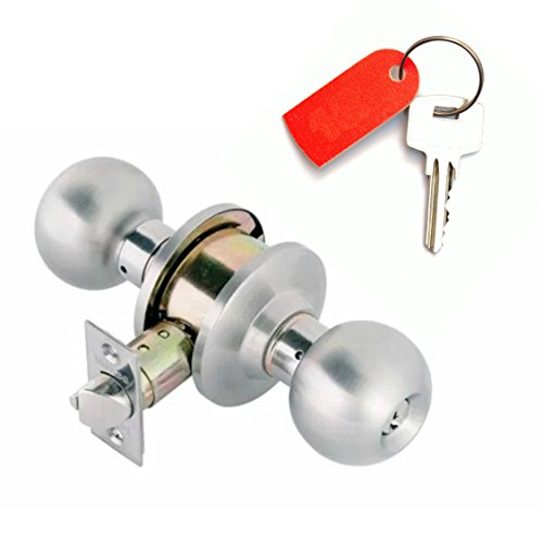 Knob Lock TOLEDO Keyed Alike Cylinders On Both Sides and Bump Key Resistant (Commercial Grade 3 Double Cylinder Communicating Function With Yale Lock Keyway) - Three Cylinder