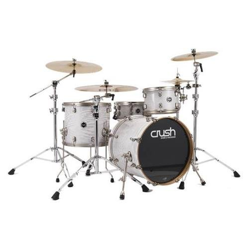 Crush Drums & Percussion Sublime AXM SMA428-612 4-Piece Drum Shell Pack, HG White with Silver Sparkle by Crush Drums & Percussion