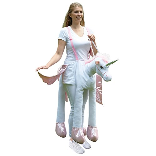 Fancy Dress VIP Adult Ladies Ride On Unicorn Pony Fancy Dress Costume