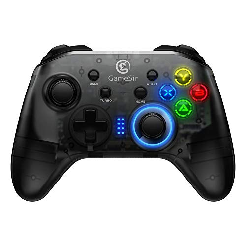 - GameSir T4 Wireless PC Controller Wired Game Gamepad 4 Customizable Buttons Showstopping Lighting Dual Shock for Windows 10/8.1/8/7