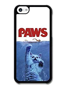 meilz aiaiJaws Paws Funny Cat Movie Poster case for iPhone 5C A8367meilz aiai